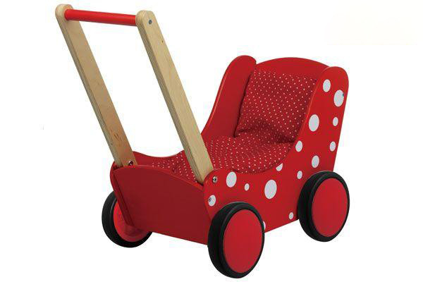 Simply for Kids rood met witte stippen.