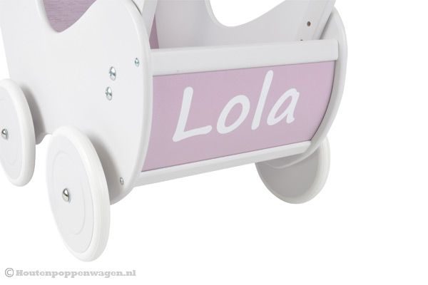 Sticker met eigen naam wit (model Sweet lila)
